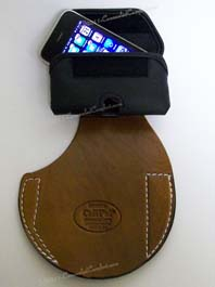 Cell Pal concealment holster with cell phone case accessory
